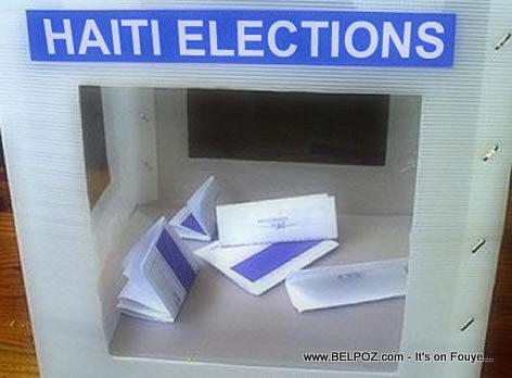 Haiti Elections - Ballot Box