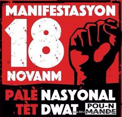 Haiti - Manifestation 18 Nov 2014 - Poster