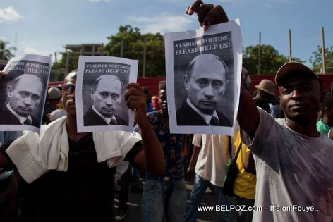 Haiti Manifestation - Vladimir Putin Please Help us