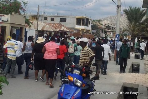 PHOTO: Haiti - Manifestation Nan Gonaives, 13 Decembre 2014