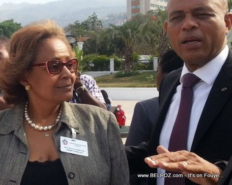 PHOTO: Haiti - Maryse Narcisse, President Michel Martelly