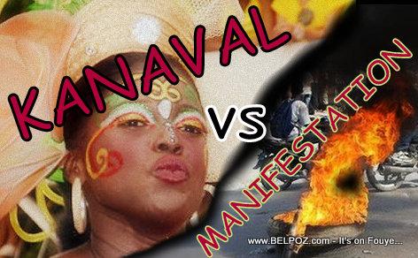 Haiti: Kanaval vs Manifestation