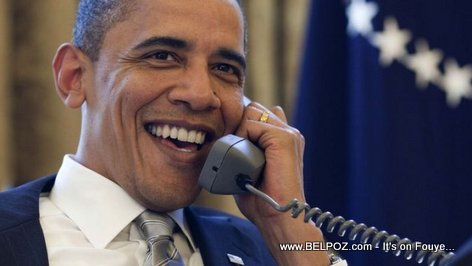 PHOTO: President Obama on the Phone