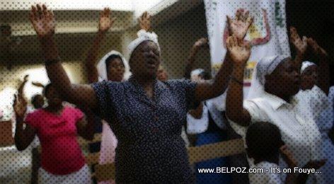 PHOTO: Haitians in Church Praising the Lord
