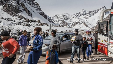 PHOTO: Haitians in Chile