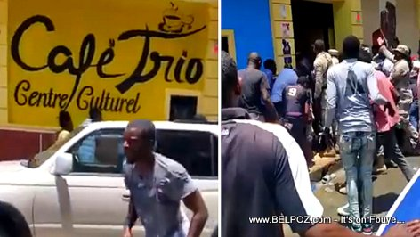 PHOTO: Incident at Cafe Trio, Cap-Haitien, Tropicana's Jacques Dubois dies