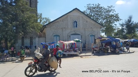 Hinche Haiti - In front of the old Catholic church, getting ready for Fête patronale de Hinche