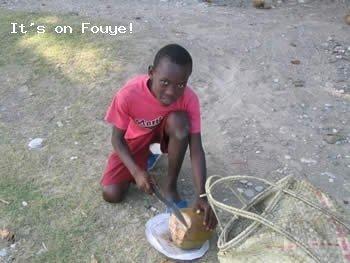 Jacmel Haiti - The Kid and The Coconut