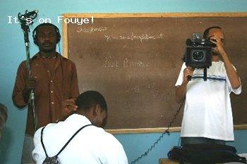tournage en salle de classe