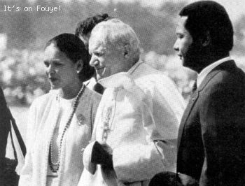 Michele Bennett, Pope John Paul II, Jean Claude Duvalier