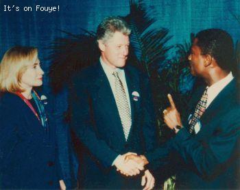North Miami Mayor Josephat 'Joe' Celestin, Bill Clinton, Hillary Clinton