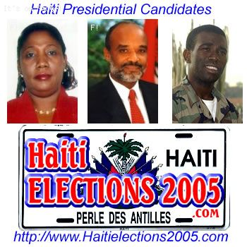 The Haitian Presidential Candidates @ www.HaitiElection2005.com