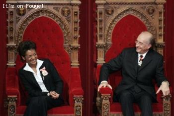 Michaelle Jean and husband Jean-Daniel Lafond
