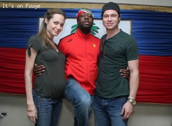 Wyclef Jean, Angelina Jolie, Brad Pitt in Haiti