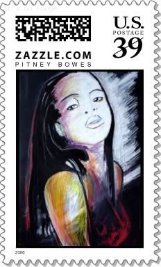 US Postage Stamps With Haitian Art