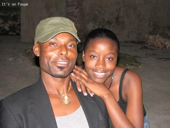 Jimmy Jean Louis and a fan in Jacmel