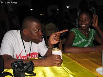 At the bar in Jacmel Haiti