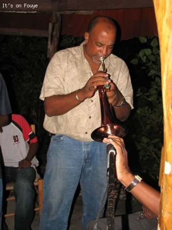 Trumpet player Jacmel haiti