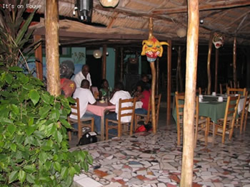 at a restaurant in jacmel