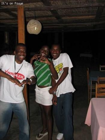 at a restaurant in jacmel Haiti