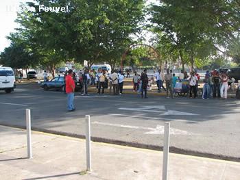 Outside Estadio Quisqueya