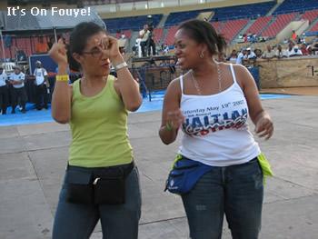 Haitian girls dancing