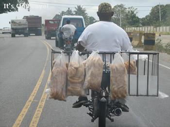 motorcycle bread man dominican republic