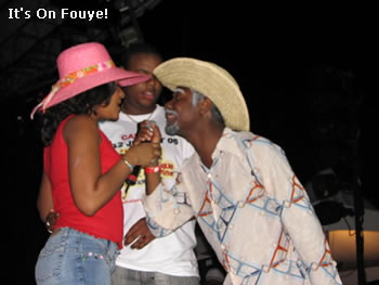 Tonton Bicha And Anne At Konpa Festival