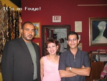 Woodring,  Myriam Nader, and brother