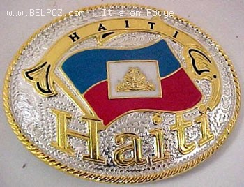Haiti Flag Belt Buckles