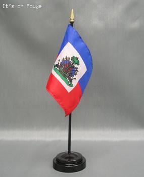Miniature Haiti Flag