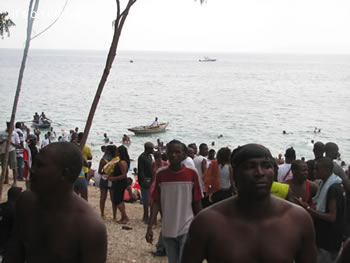 Haiti beach party