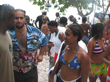 beach party in the caribbean