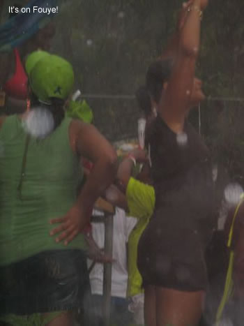 hatitian women singing in the rain