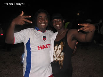 Haitian actors at the beach