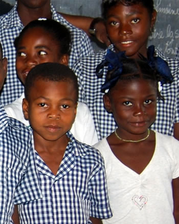 students in Haiti