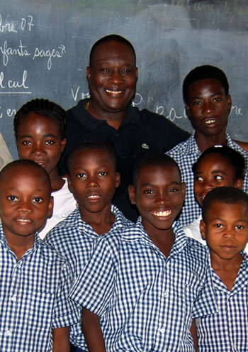 school kids in Haiti