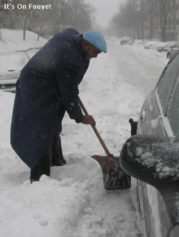 Shoveling Snow, Montreal, Canada