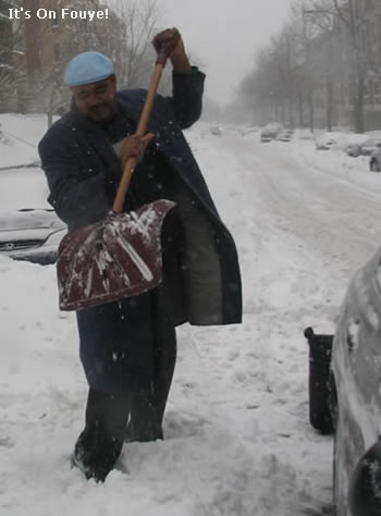 Shoveling Snow in Canada