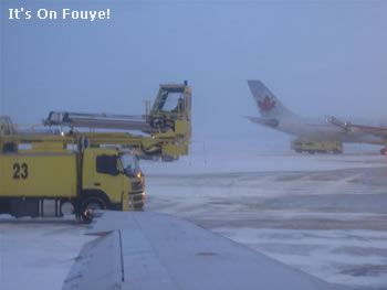 A Plane being de-ced in Canada