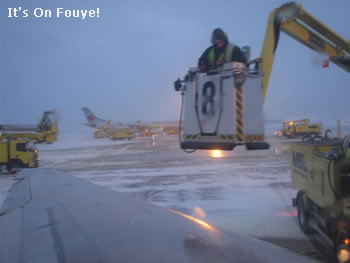 Plane Deicing in Montreal Trudeau airport