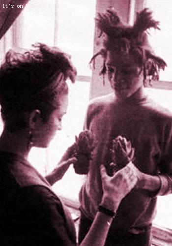 Madonna and her Haitian Boyfriend Jean-Michel Basquiat