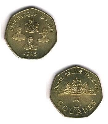 5 Gourdes, Haiti Coins
