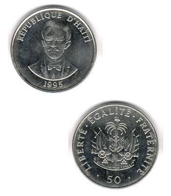 50 Centimes 50 Kob Haiti Coins