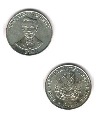20 Centimes 20 Kob Haiti Coins