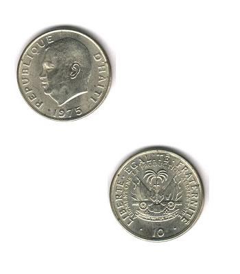 10 Centimes 10 Kob Haiti Coins