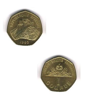 1 Gourde, 1 pias, Haiti Coins