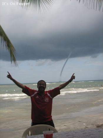 Twister at the beach in Haiti