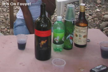 Rhum Babancourt, 7up, Some wine, We're Good