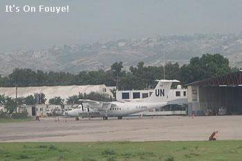 UN Plane at the airport in Haiti